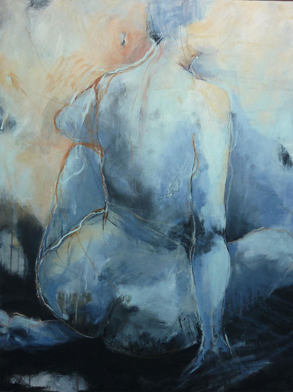 Blauer Rückenakt